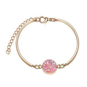 3/$20 Gold & Pink Druzy Stone Bracelet NEW